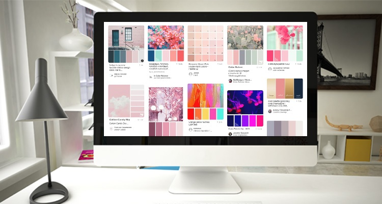 Image showing mood boards on a desktop, illustrating inspiration ideas