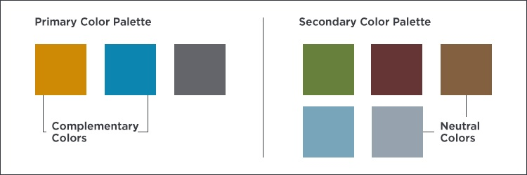 image showing examples of primary and secondary palettes