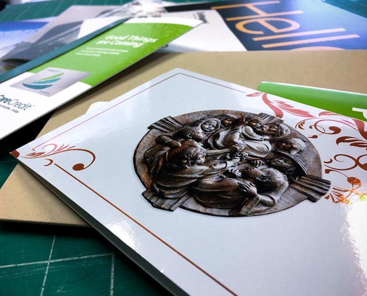Sample of print work LMG has produced for past clients