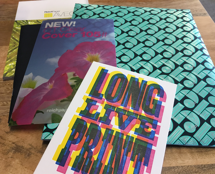 Examples of print materials received from Millcraft
